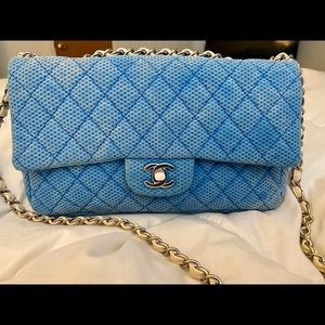 Chanel Quilted Jersey Medium Classic Flap Bag